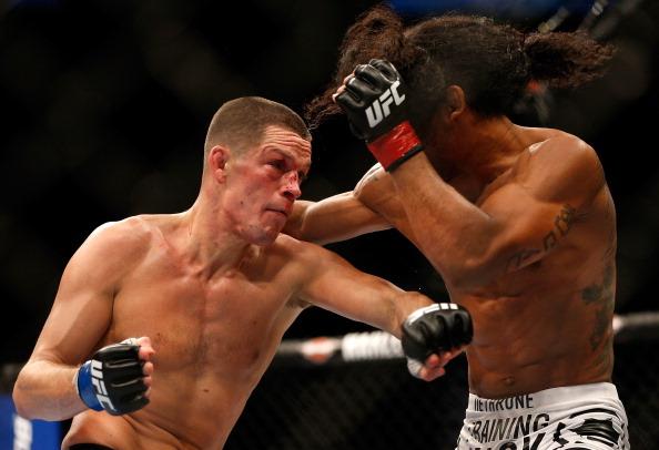 Nate Diaz volta a luta em Abril. Foto: Josh Hedges/Zuffa LCC via Getty Images