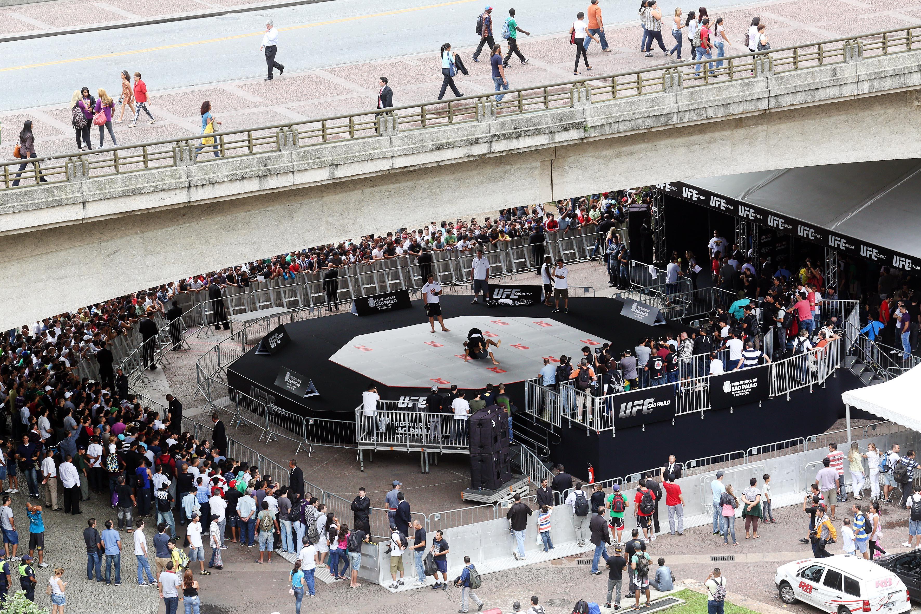 Treino aberto em São Paulo foi um dos eventos do UFC. Foto: UFC/Wander Roberto
