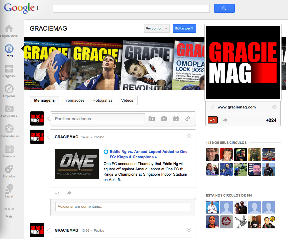 Google+ is the new tool for GRACIEMAG Live Events Coverages