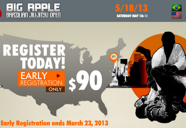 Big Apple BJJ Open Early Registration until Mar. 23