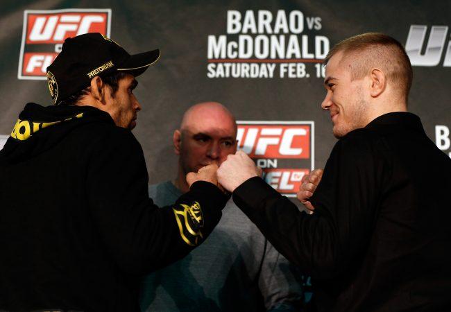 Assista ao vivo a pesagem do UFC Barão vs McDonald