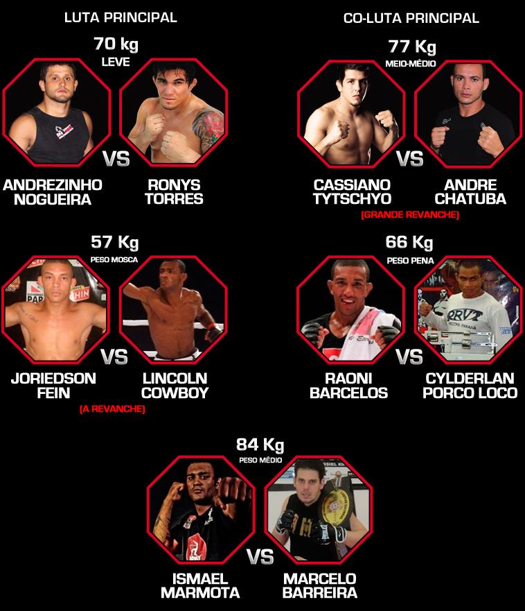 Card principal do evento MMA Champions. Foto: Divulgação