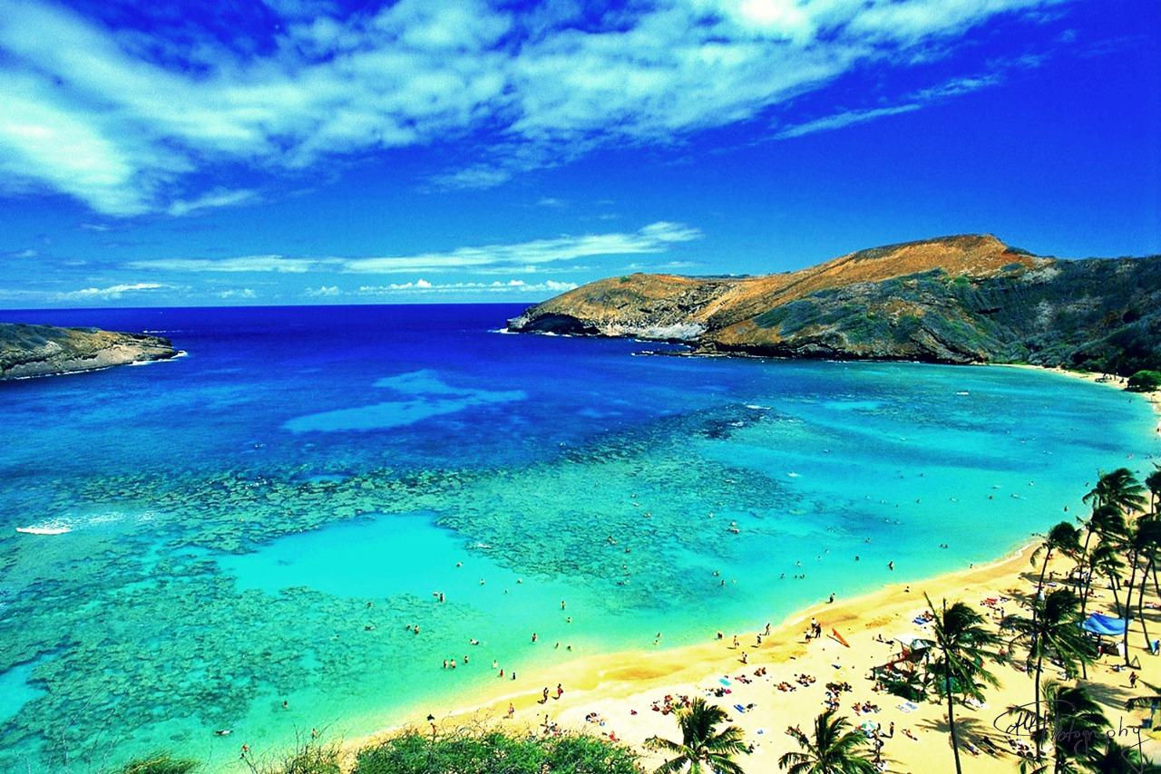 Praia de Honolulu, no Havaí. Foto: Divulgação.