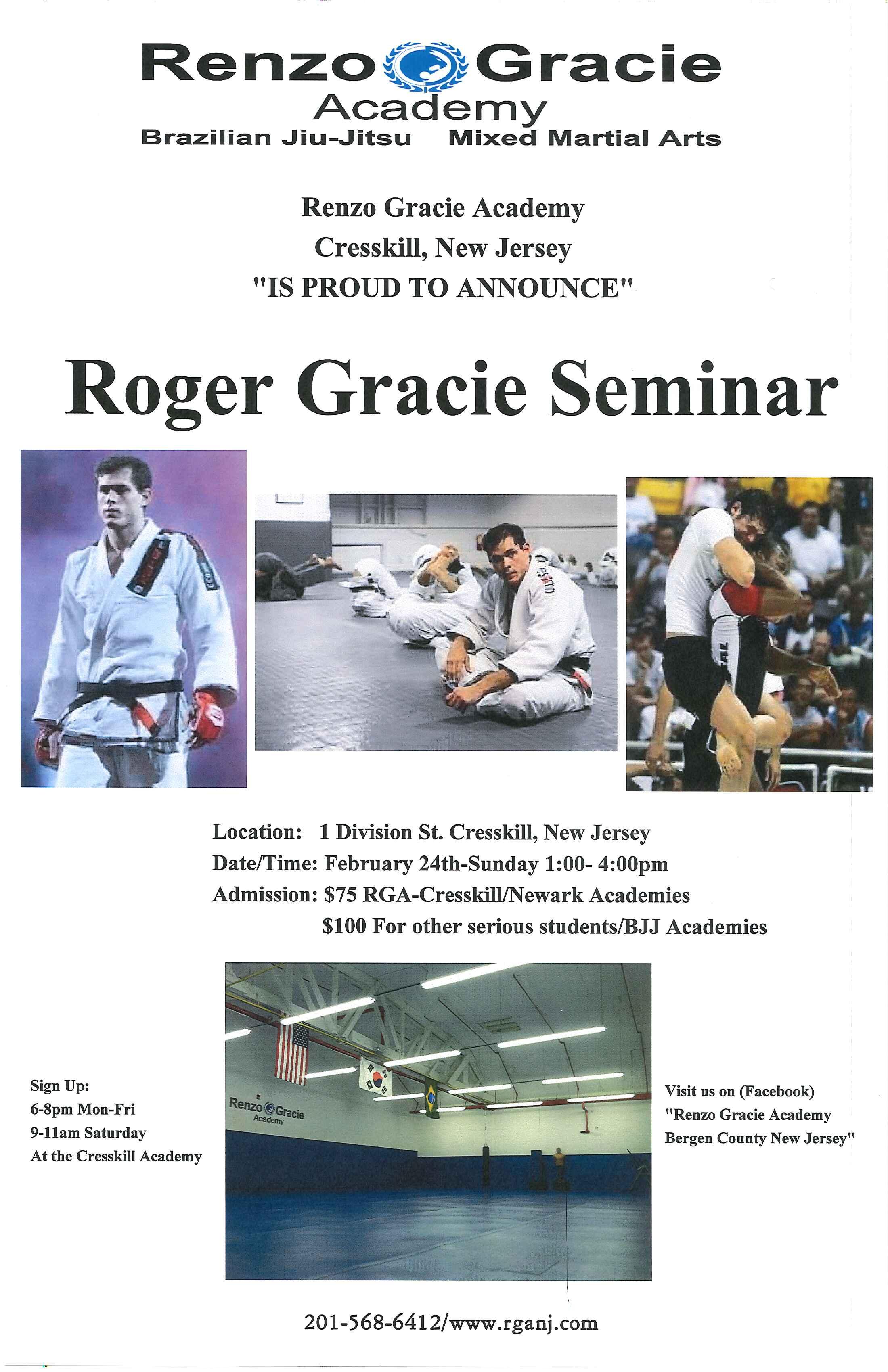 Roger Gracie Seminar in Renzo Gracie Cresskill