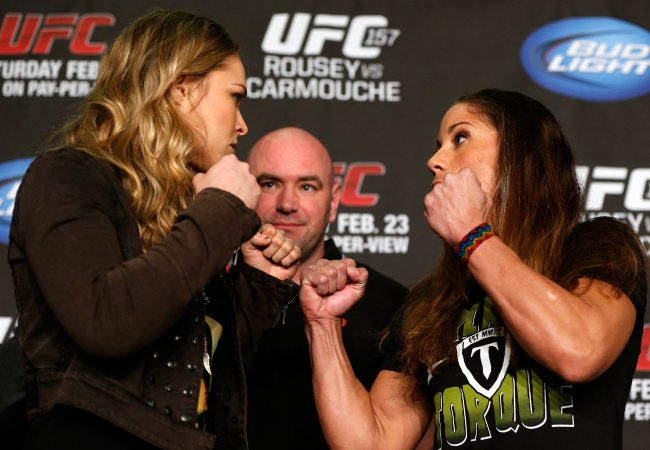 Rousey e Carmouche fazem história no UFC neste sábado. Foto: Josh Hedges/Zuffa LLC via Getty Images