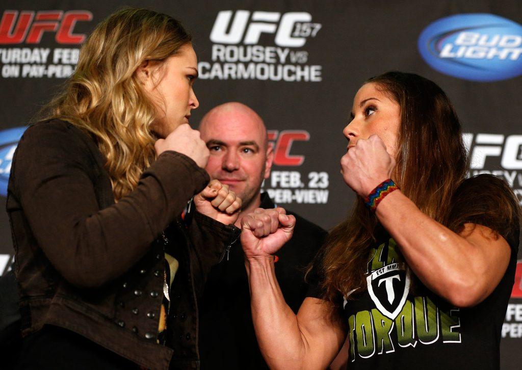 Rousey e Carmouche fazem história no UFC neste sábado. Foto: Josh Hedges/Zuffa LLC via Getty Images