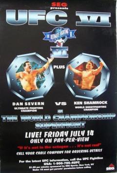 Pôster histórico do UFC VI: Dan Severn vs Ken Shemrock.