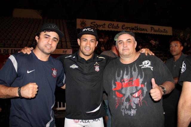 Davi Ramos com os mestres Ramos Lemos e Casquinha