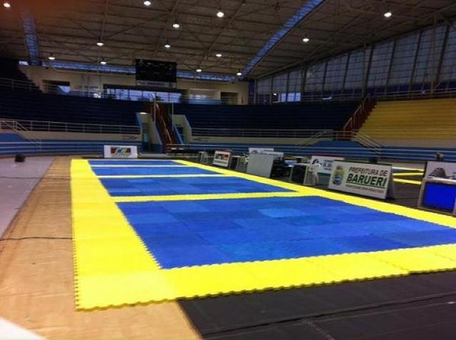 Arena Barueri, o nome popular do palco do Brasileiro de Jiu-Jitsu 2013. Foto: CBJJ via Vinicius Reis/Alfedo/Divulgação