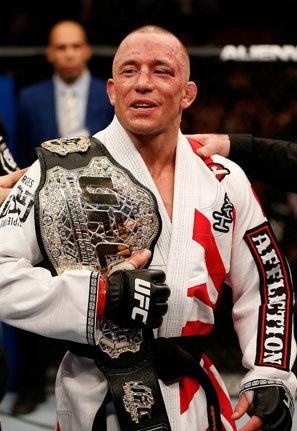 GSP de kimono, faixa-preta e cinturão. Foto: UFC/Facebook
