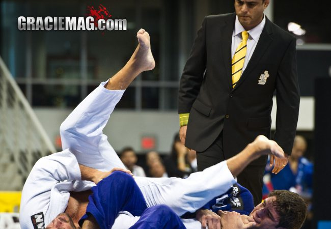 BJJ Champion Buchecha attacks Leo Leite during the 2012 Worlds