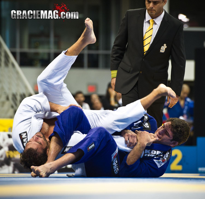 BJJ Champion Buchecha attacks Leo Leite during the 2012 Worlds