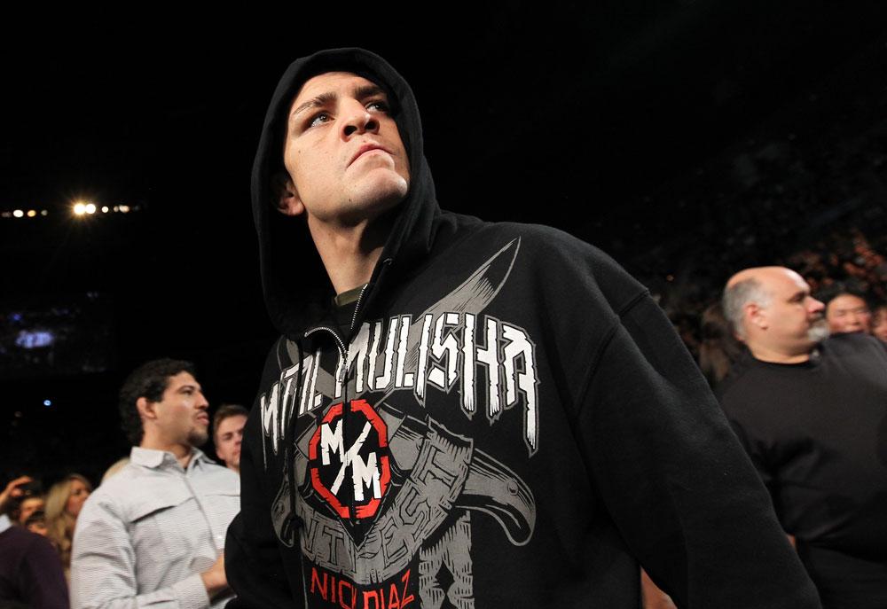 Nick Diaz faz a tão aguaradada luta contra GSP no UFC 158, no Canadá. Foto: Nick Laham/Zuffa LCC via Getty Images