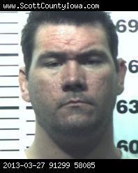 Rory Markham em foto tirada após à prisão. Foto: ScottCountyIowa.com