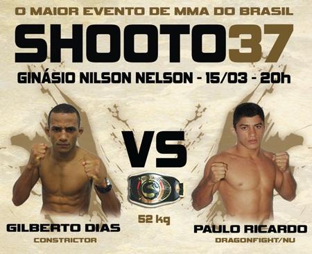 Pôster do Shooto 37, realizado em Brasília. Foto: Dilvulgação