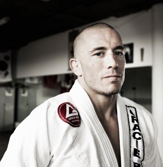 St-Pierre segue estudando e aprimorando seu Jiu-Jitsu. Foto: GracieBarra.com