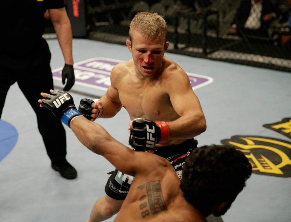 TJ Dillashaw parte em busca do cinturão de Renan Barão. Foto: UFC/ Reprodução Facebook