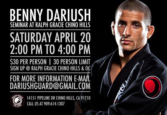 Benny Dariush hosting seminar at GMA Ralph Gracie Chino Hills April 20