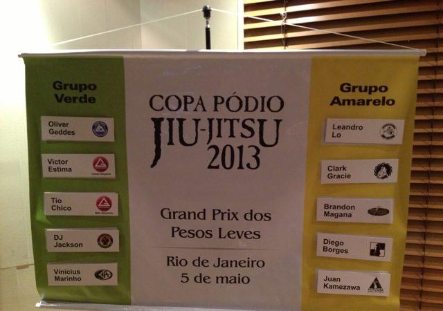Copa Pódio: sorteio define grupos do Grand Prix dos Pesos Leves, no Rio