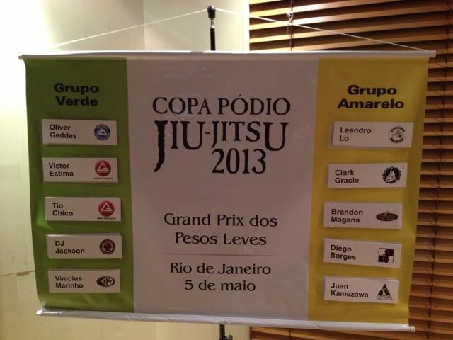 GP dos Leves da Copa Podio Sorteio grupos