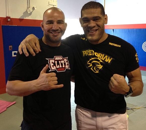 Glover Teixeira e Antônio Pezão se preparam juntos para o UFC 160. Foto: Divulgação