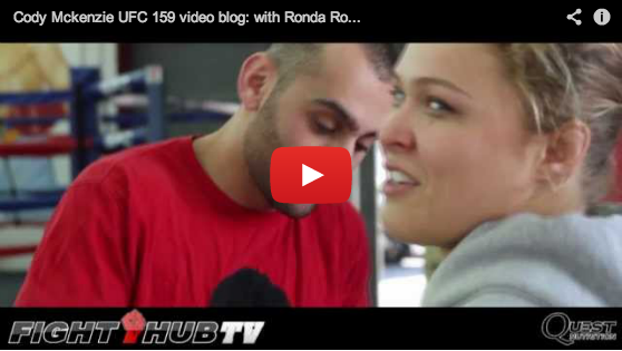 Check out Cody McKenzie's UFC 159 video blog with Ronda Rousey & Romulo Barral