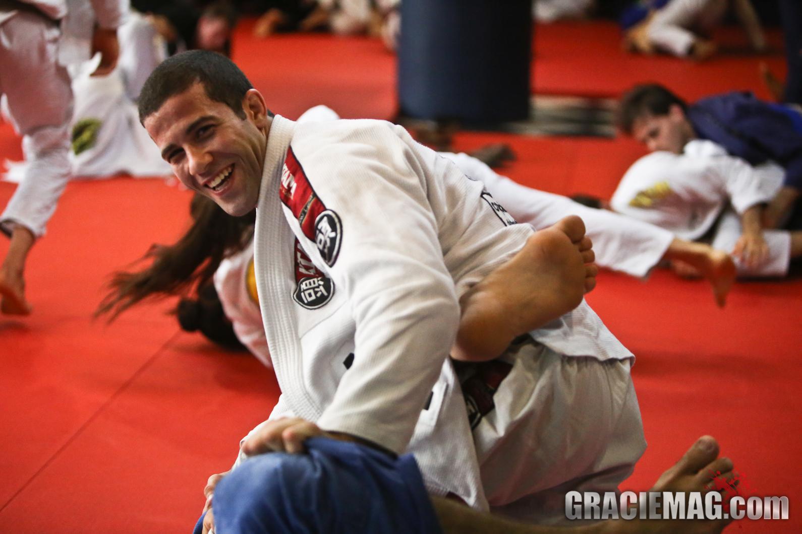 Tanquinho enjoying his time on the mat / Photo: Erin Herle