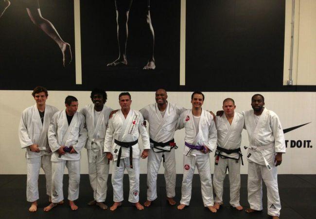 Bastidores do treino de Jiu-Jitsu de Anderson, Wagner Moura, Lázaro Ramos e cia