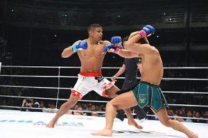 Bibiano em ação pelo Dream, quando defendeu seu cinturão do evento. Foto: Susumu Nagao/Arquivos NOCAUTE