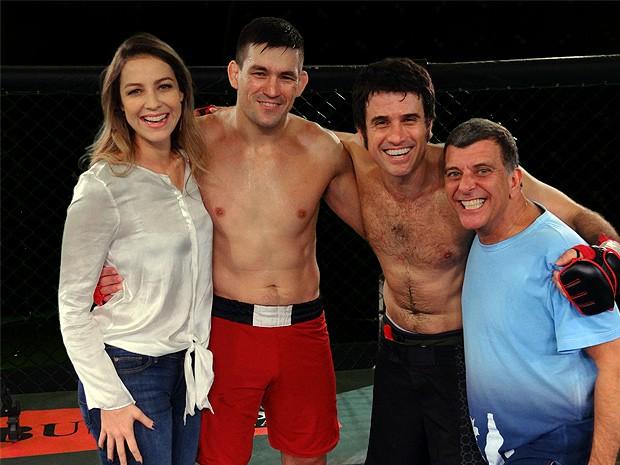 Demian com Luana, Eriberto e Jorge Fernando. Foto: Guerra dos Sexos/TV Globo