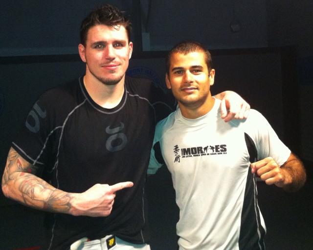 Chris Camozzi ao lado de Diego Moraes. Foto: Arquivo Pessoal