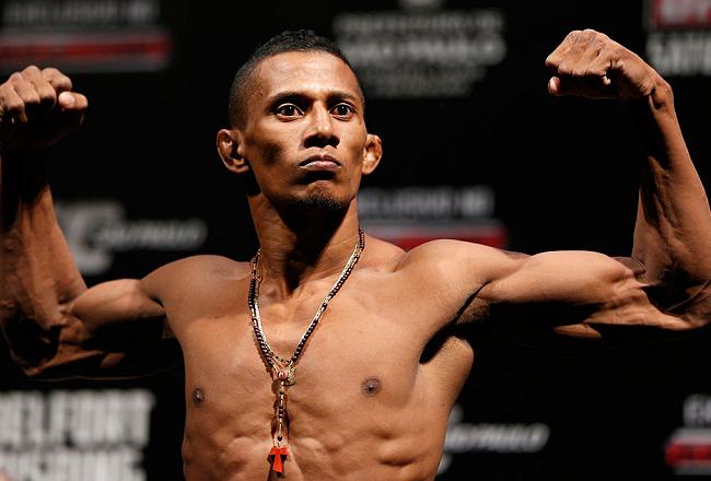Iuri Marajó desceu duas categorias e hoje luta no peso-galo do UFC. Foto: Josh Hedges/Zuffa LCC via Getty Images