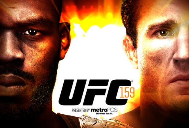Jon Jones e Chael Sonnen fazem a luta principal do UFC 159. Foto: Divulgação
