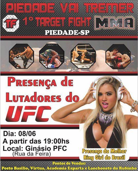 Cartaz do 1° Target Fight MMA. Foto: Divulgação