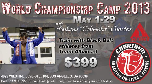 Cobrinha's World Championship camp in Los Angeles is going on now!