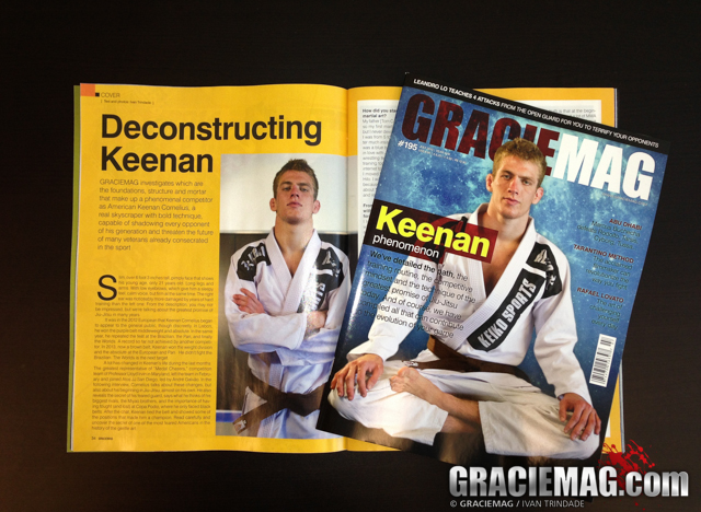 Keenan Cornelius is the man on the cover of GRACIEMAG #195