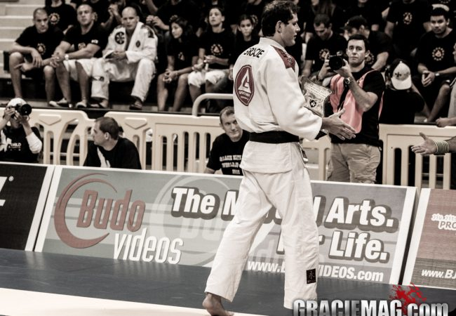 Roger Gracie's final step on a Worlds mat