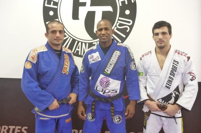 Elan Santiago, Fernando Tererê e Victor Genovesi na Alliance Ipanema. Foto: GRACIEMAG