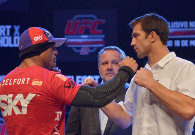 Galeria de fotos: a encarada de Vitor Belfort e Rockhold e o treino aberto do UFC em Jaraguá