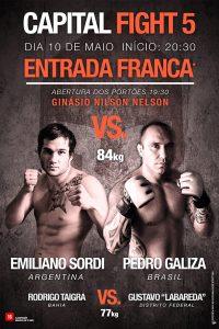 Pedro Galiza faz a luta principal com o argentino Sordi no Capital Fight. Foto: Divulgação