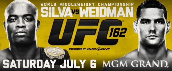 'UFC 162: Silva vs. Weidman' official for July 4 weekend; tickets on sale next Friday