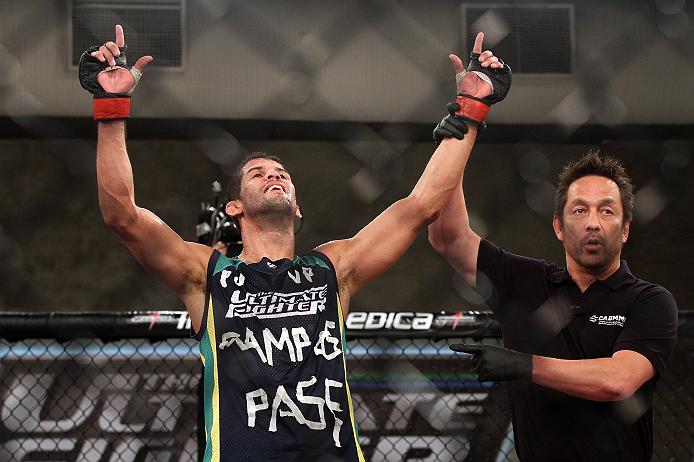 """Léo Santos após vitória no """"TUF Brasil 2"""". Foto: UFC/Divulgação"""