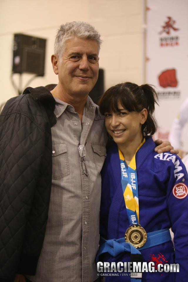 Anthony Bourdain Tries Jiu Jitsu At Renzo Gracie As