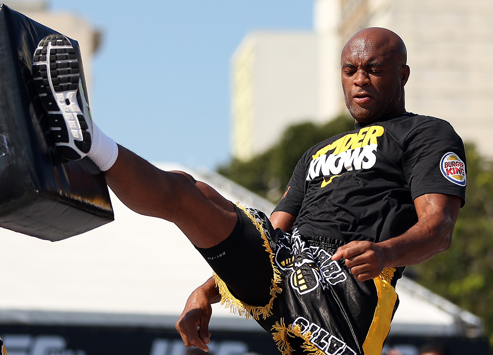 Anderson Silva - UFC 153 Open Workouts