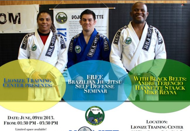 Free self-defense seminar June 9 in Chicago with Hannette Staack, Andre Terencio