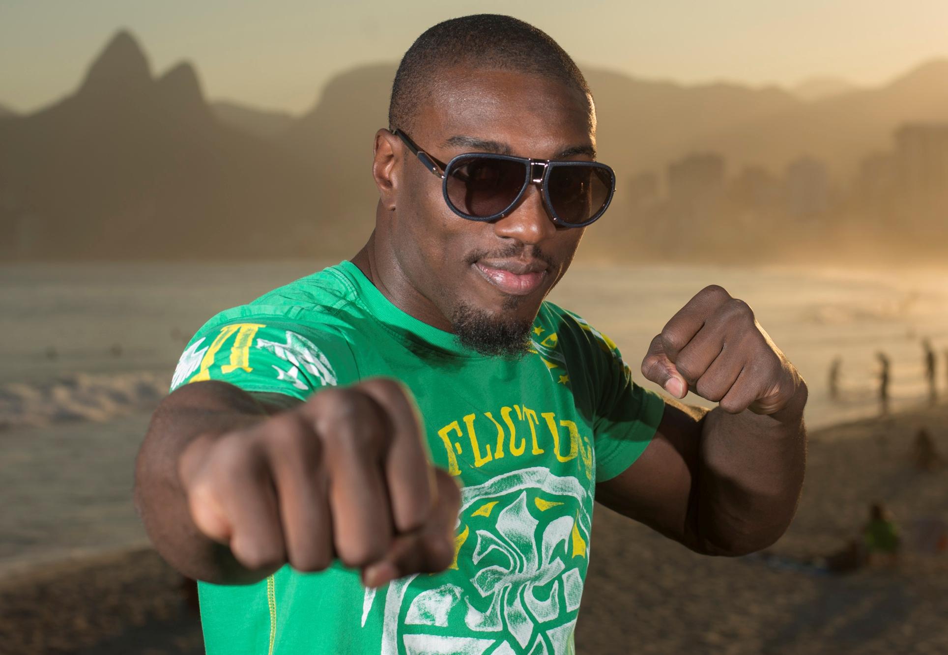 "Phil Davis se considera um ""faixa-laranja"" de Jiu-Jitsu. Foto: UFC/Alexandre Loureiro"