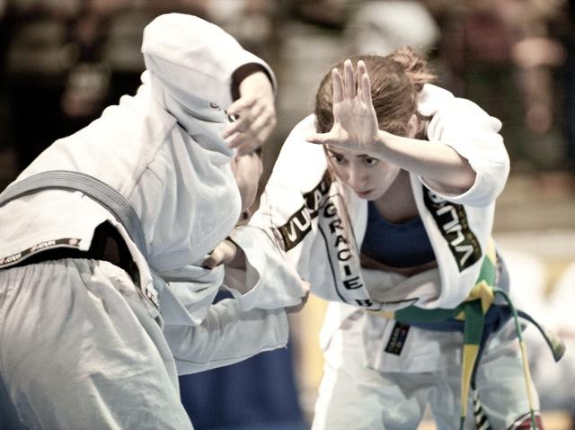 Lutadoras de Jiu Jitsu durante uma edicao do Las Vegas Open Foto John Cooper