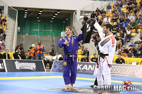 Marcus Buchecha won the ultra-heavyweight and the open at the 2013 Worlds. Photo: Ivan Trindade.