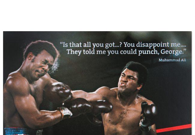 Ali vs. Foreman: sometimes teasing the opponent works