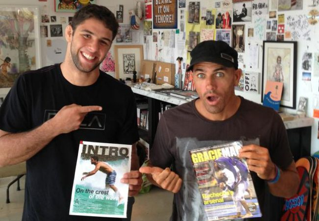 Marcus Buchecha meets Kelly Slater to read GRACIEMAG